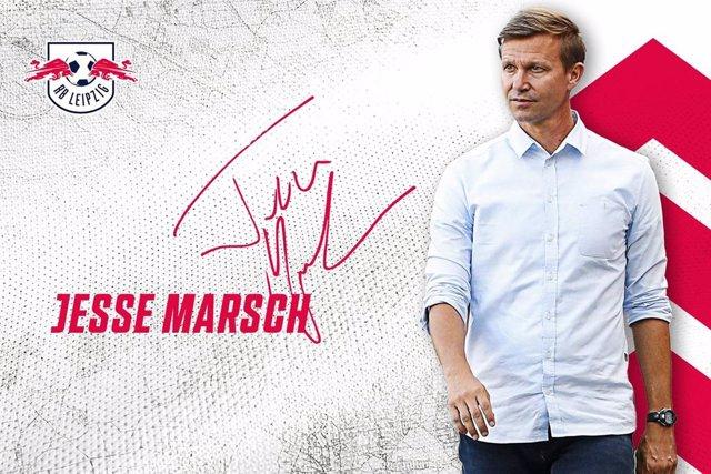 El nuevo entrenador del RB Leipzig de la Bundesliga, el estadounidense Jesse Marsch, que tomará las riendas del equipo el 1 de julio de 2021