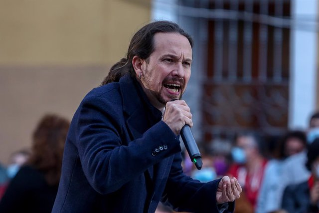 Arxiu - El candidat d'Unides Podem a la presidència de la Comunitat de Madrid, Pablo Iglesias.