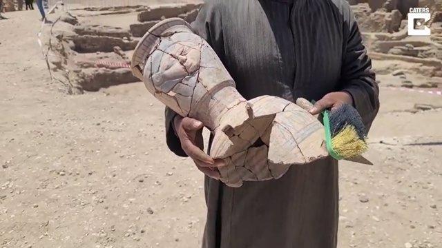 Un explorador documenta en vídeo el hallazgo de la antigua ciudad perdida en Luxor, Egipto
