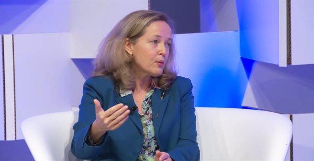 La vicepresidenta segona i ministra d'Afers Econòmics, Nadia Calviño.