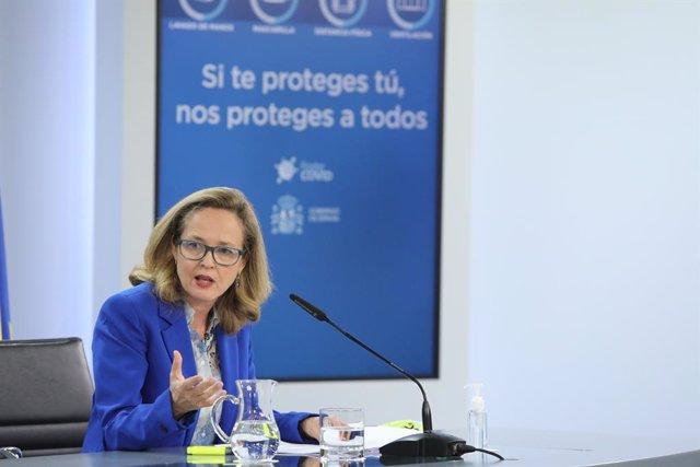 Archivo - La vicepresidenta tercera y ministra de Asuntos Económicos y Transformación Digital, Nadia Calviño.