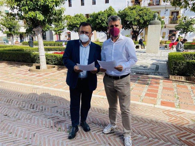 Miguel Ángel Heredia, senador socialista, y José Bernal, portavoz socialista en la Diputación de Málaga