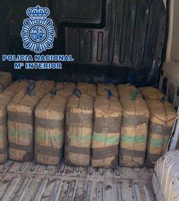 Droga intervenida en la furgoneta en La Línea