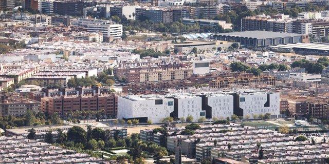 Archivo - Vista aérea de la Ciudad de la Justicia.