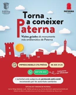 Cartel promocional de visitas guiadas a Paterna
