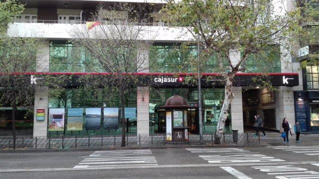 Archivo - Sede central de Cajasur en Córdoba, en una imagen de archivo