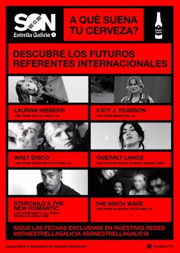 SON Estrella Galicia anuncia seis nuevas propuestas de artistas que marcarán el futuro
