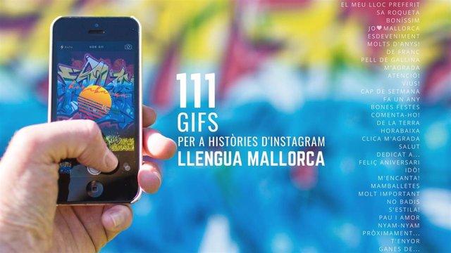 Campaña del Consell de Mallorca para el uso del catalán en Instagram.