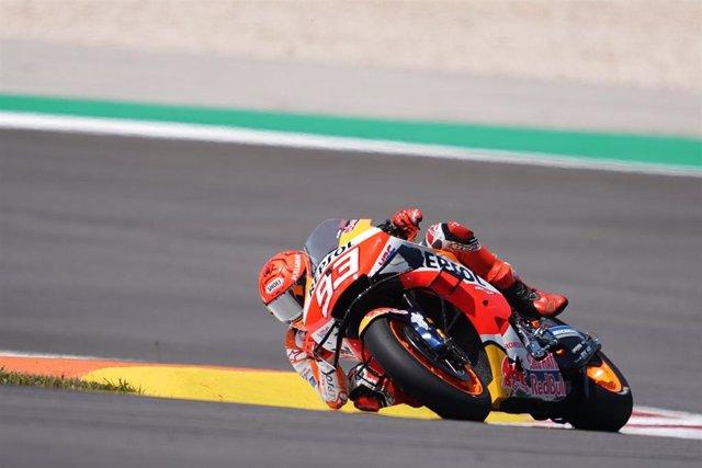 El piloto de MotoGP Marc Márquez (Repsol Honda Team) en la carrera del Gran Premio de Portugal 2021