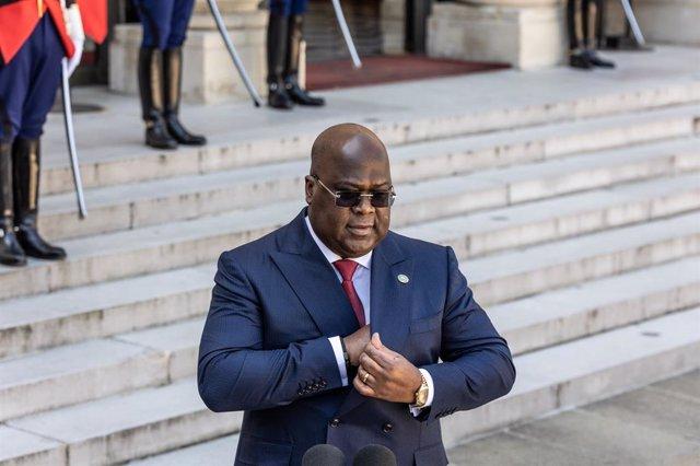 El presidente de RDC, Felix Tshisekedi, en una visita oficial a París.
