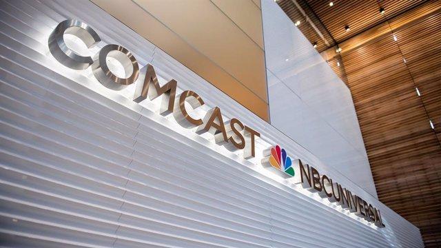 Archivo - Logo de la empresa de medios Comcast.