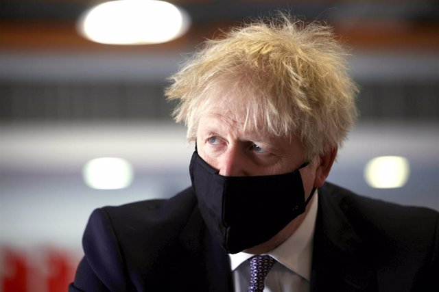 29 April 2021, United Kingdom, London: UK Prime Minister Boris Johnson visits King Solomon Academy in Marylebone, central London. Photo: Dan Kitwood/PA Wire/dpa