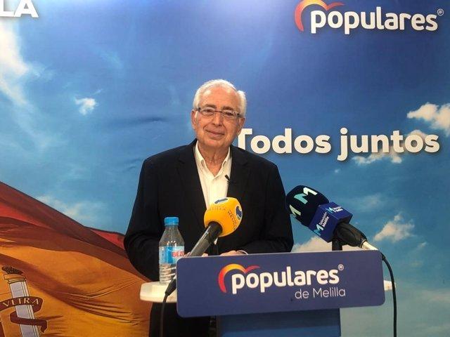 Juan José Imbroda, este jueves, en rueda de prensa