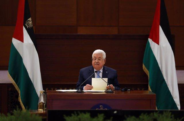 Archivo - Mahmud Abbas, presidente de la Autoridad Palestina