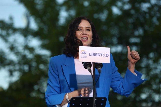 Arxiu - La presidenta de la Comunitat de Madrid i candidata a la reelecció, Isabel Díaz Ayuso.