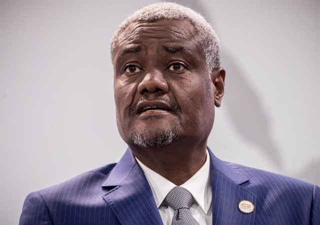 Archivo - El presidente de la Comisión de la Unión Africana (UA), Moussa Faki Mahamat
