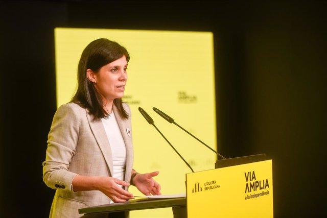 Archivo - Arxiu - La secretària general adjunta i portaveu d'ERC, Marta Vilalta.