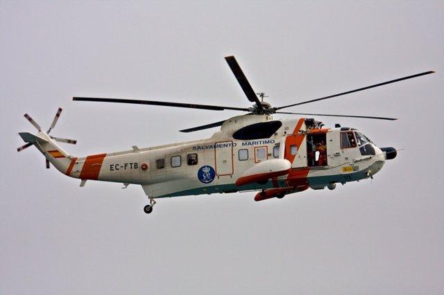 Archivo - Un Helicóptero De Salvamento Marítimo