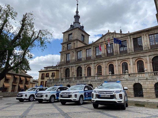 Los cuatro nuevos coches de la Policía Local