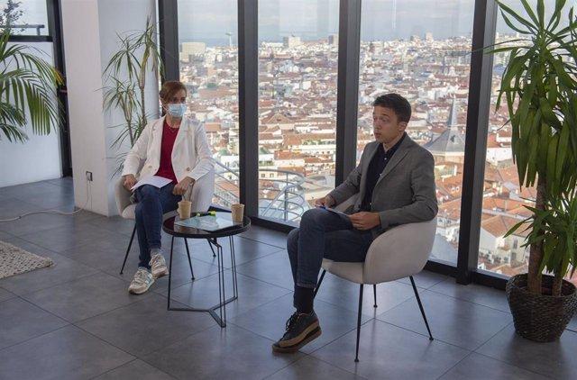 La candidata de Más Madrid a la Presidencia de la Comunidad de Madrid, Mónica García, y el portavoz de Más País en el Congreso, Íñigo Errejón