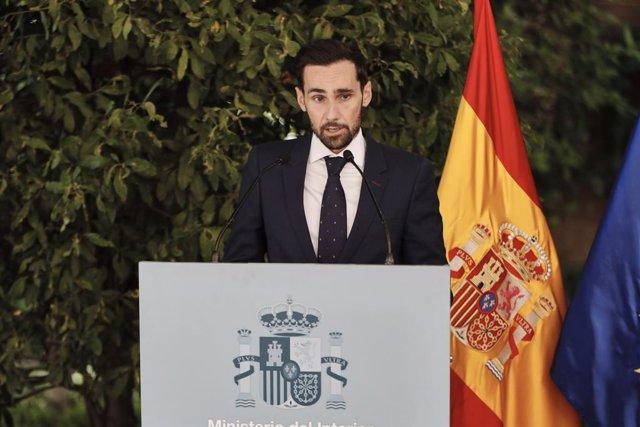 Archivo - El secretario de Estado de Seguridad, Rafael Pérez Ruiz, en el Palacio de Zurbano, interviene en el acto de recuerdo y reconocimiento al trabajo desarrollado por el personal dependiente del Ministerio del Interior durante el estado de alarma, en
