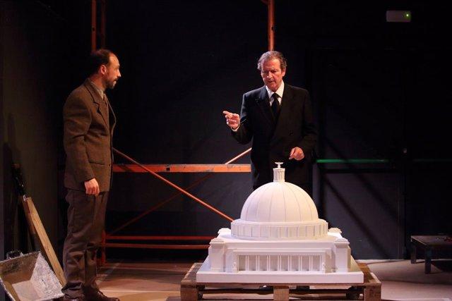 Ensayo de 'Speer' en el Teatre La Gleva de Barcelona