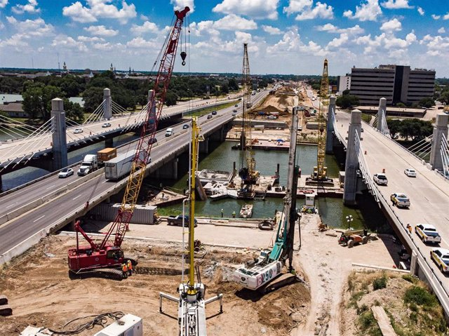 Archivo - Autopista I-35, en Texas