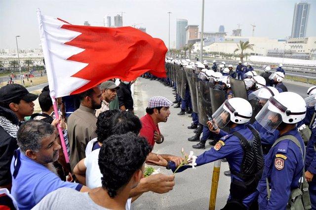 Imagen de archivo de protestas en Bahréin