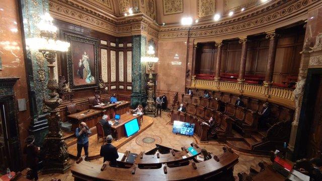 Arxiu - El ple de l'Ajuntament de Barcelona.