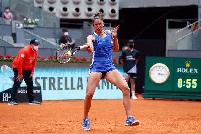 Sara Sorribes en el Mutua Madrid Open