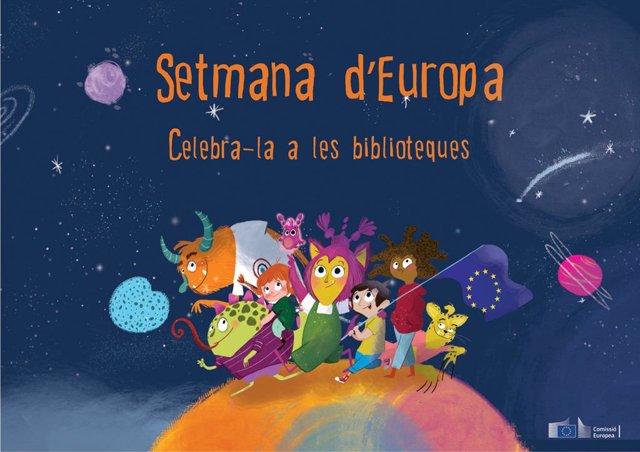 Arxiu - Cartell de la setmana d'Europa a les biblioteques.