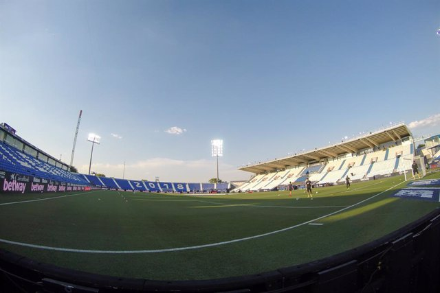 Archivo - Illustration, a general view of the empty stands during the spanish league, LaLiga, football match played between CD Leganes and Sevilla FC at Municipal Butarque Stadium on June 30, 2020 in Leganes, Madrid, Spain.