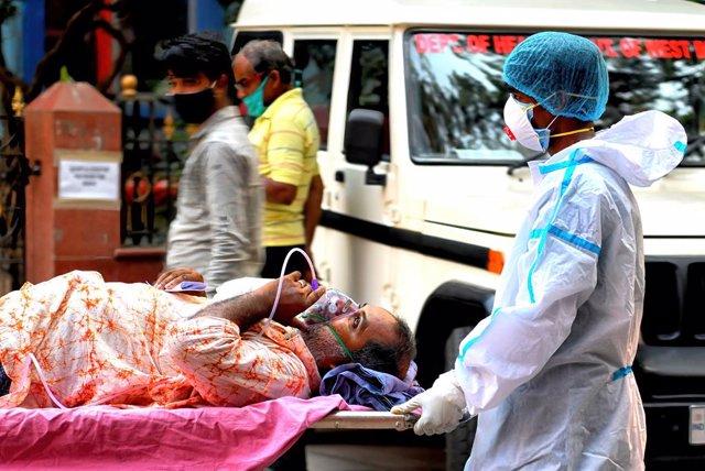 Un paciente de coronavirus en India.