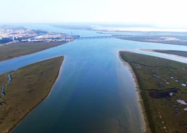 La Ría de Huelva.