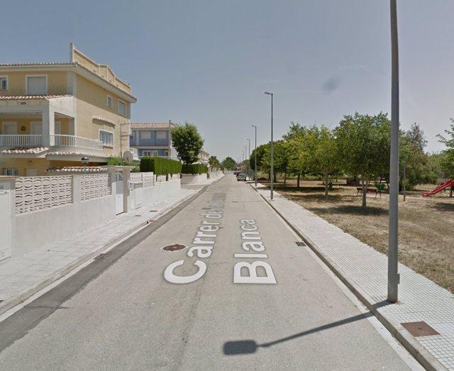 Calle Garceta Blanca de Gandia (Valencia)