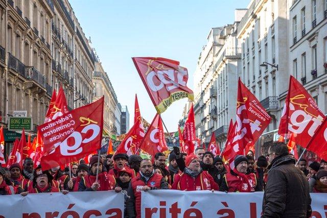 Archivo - Arxivo - Imatge d'arxiu d'una protesta de la CGT a França