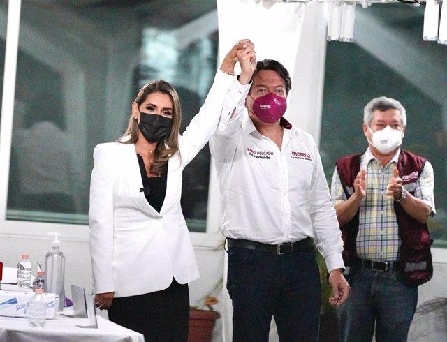 Registro de la candidatura de Evelyn Salgado para gobernadora de Guerrero por Morena.