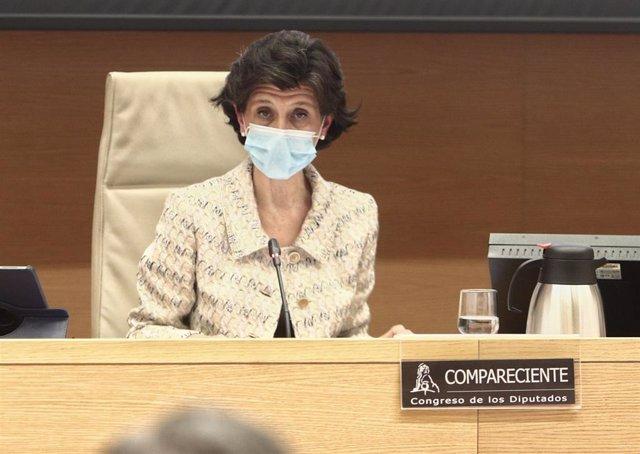 Archivo - La presidenta del Tribunal de Cuentas, María José de la Fuente