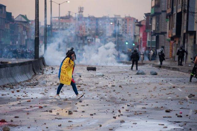 Protestes a Colòmbia contra la reforma tributària