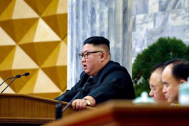 Archivo - Kim Jong Un, líder de Corea del Norte.