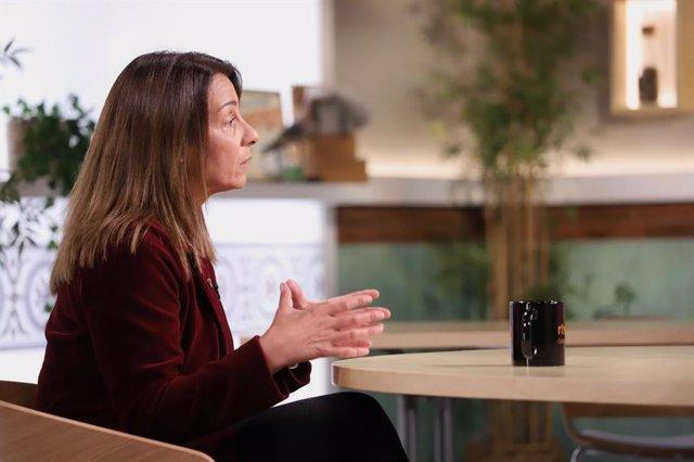 La consellera de la Presidència i portaveu del Govern, Meritxell Budó, durant l'entrevista.