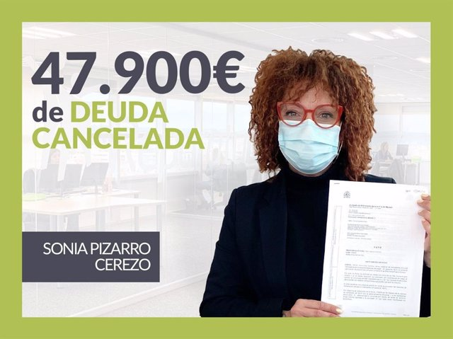Sonia Pizarro, exonerada con Repara Tu Deuda con la Ley de Segunda Oportunidad