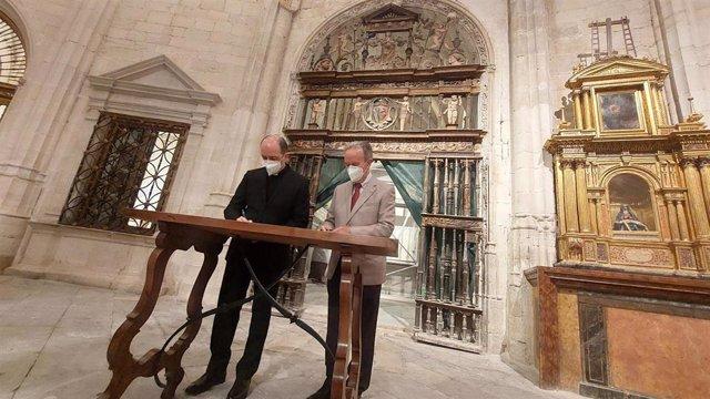 Catedral de Cuenca y Globalcaja se alían en la restauración del retablo de la Asunción, datado en el siglo XVI.