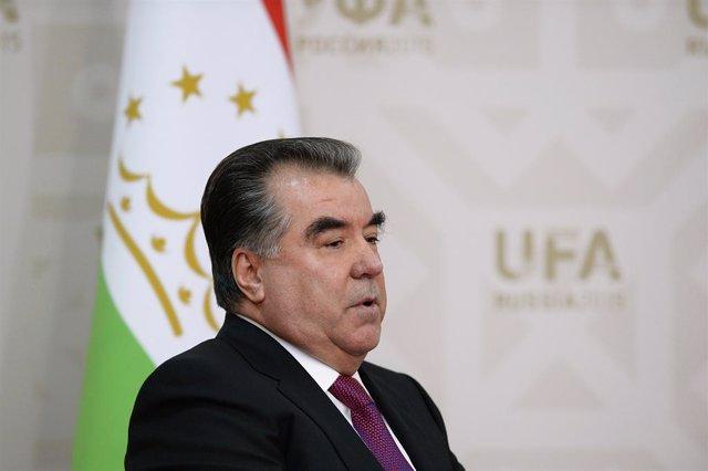 Archivo - El presidente de Tayikistán, Emomali Rajmon