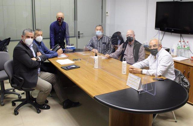 Reunió dels responsables d'Endesa i del Consell Comarcal de les Garrigues.