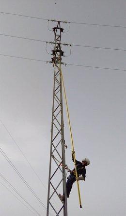 Trabajos en línea de media tensión en Cártama