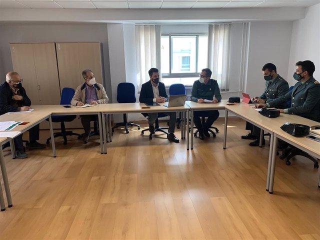 Reunión de la comisión de seguimiento entre la Diputación de Cáceres y la Comandancia de la Guardia Civil para la mejora de los cuarteles de la provincia