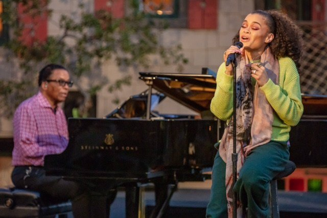 """Legendary Jazz Pianist Herbie Hancock And Acclaimed Vocalist Andra Day Perform As Part Of The International Jazz Day 2021 All-Star Global Concert.""  (Steve Mundinger For Herbie Hancock Institute Of Jazz)"