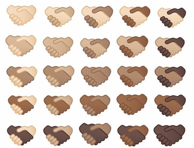 Nuevos emojis de apretones de manos.