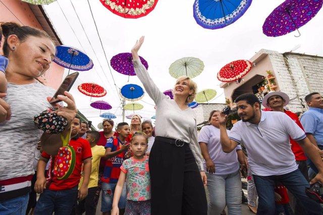 Archivo - La alcaldesa de Guayaquil, Cynthia Viteri